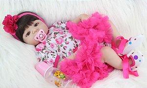 Bebe Reborn Tamara 2019 - 55cm, Inteira em Silicone - Pronta Entrega Exclusiva