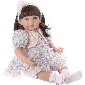 Boneca Bebe Reborn Realista Laura Doll Flower Light - Envio Imediato