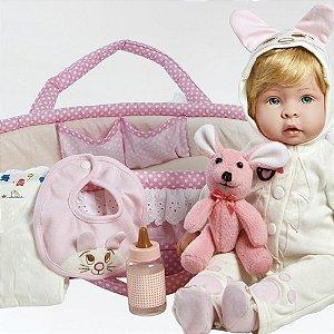 Boneca Molly e Fluffy Reborn Paradise Galleries com Berço Grátis Envio Imediato!
