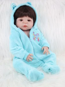 Bebe Reborn Stefan com 55cm Inteiro em Silicone - Pronta Entrega