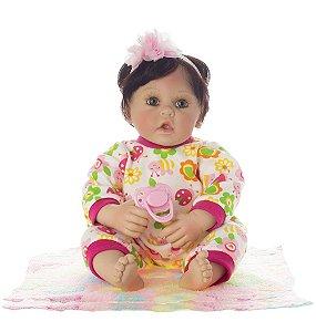 Boneca Bebe Reborn Laura Baby Nadia - Pronta Entrega