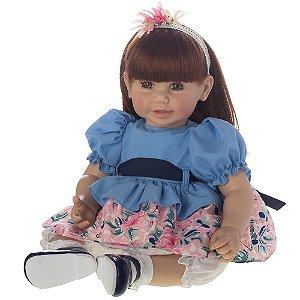 Boneca Bebe Reborn Laura Doll Lorena 50cm, Pronta Entrega!