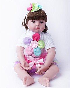 Boneca Laura Baby Flora com 50cm - Loja da Bebe Reborn
