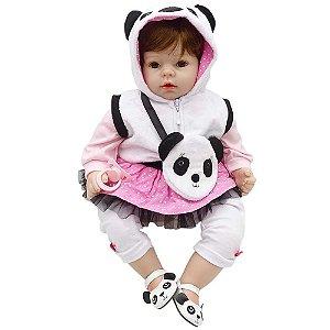 Bebê Reborn Alice Pandinha 50cm - Laura Doll