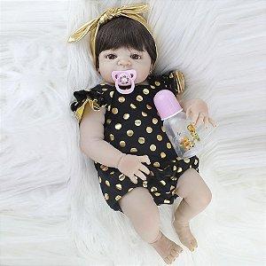 Bebê Reborn Tatiane 55cm Inteira em Silicone - Pronta Entrega!