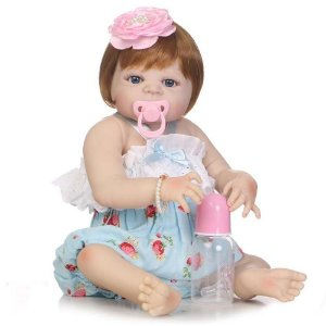 Bebê Reborn Lorena Ruiva 55cm com Olhos Azuis - Pronta Entrega!