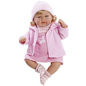 BONECA ESTILO BEBÊ REBORN MARY ELEGANCE 40CM - BABY BRINK!