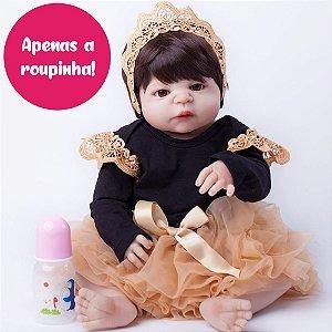 Enxoval de Princesa para Bebê Reborn 55cm - Somente a Roupinha!