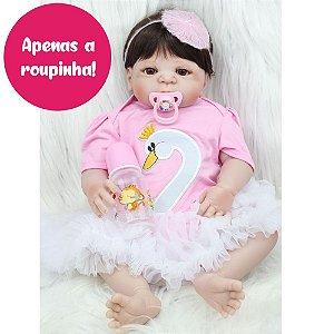 Enxoval Cisne para Bebê Reborn 55cm - Somente a Roupinha!
