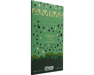 Chocolate Orgânico Nibirus 75% Cacau 80g - Amma Chocolate