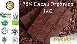 Chocolate Orgânico 75% Cacau 1Kg - Amma Chocolate