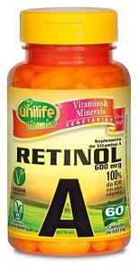 Vitamina A Retinol 500mg 60 cápsulas - Unilife
