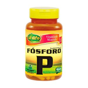 Fósforo Quelato P 600mg 60 Cápsulas - Unilife