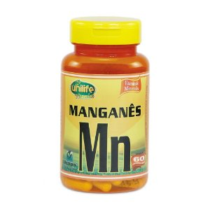 Manganês Quelato MN 500mg 60 Cápsulas - Unilife