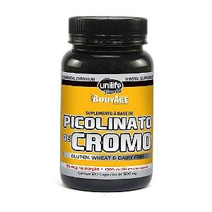 Picolinato de Cromo 500mg 120 Cápsulas - Unilife