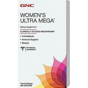 Womens Ultra Mega Multivitamínico Para Mulheres 180 Capsulas - GNC