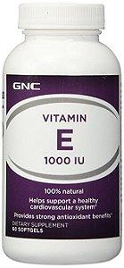 Vitamina E 1000 IU 60 Capsulas - GNC