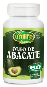 Óleo De Abacate 1200mg 60 Capsulas - Unilife