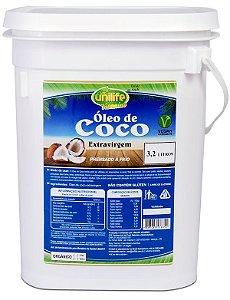 Óleo de Coco Extra Virgem Balde 3,2 Litros - UniLife