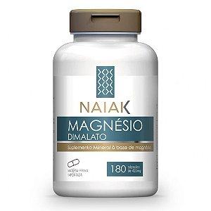 Magnésio Dimalato 420mg 180 Cápsulas - Naiak