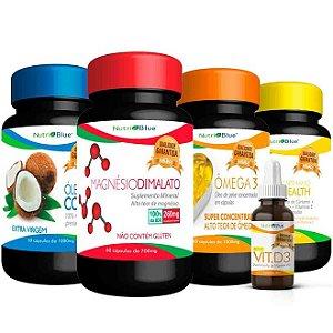 Quarteto Mágico + Vitamina D3 - NutriBlue