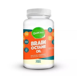 Brain Octane Oil Mct Concentrado Sem Sabor Natural 250ml - Qualicoco