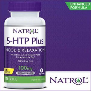 5 htp Plus 100mg Mood & Relaxtion - 150 Capsulas - Natrol