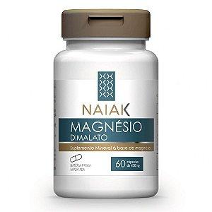 Magnésio Dimalato 420mg 60 Cápsulas - Naiak