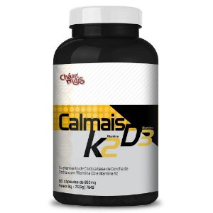 Calmais Cálcio K2 E D3 850mg 90 Cápsulas - Chá Mais