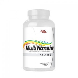 Multivitamínico e Multiminerais MultiVitMais de A a Z 500mg 120 Cápsulas - Chá Mais