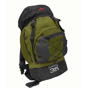 Mochila Trilhas & Rumos Trekking 35L Verde com Preto