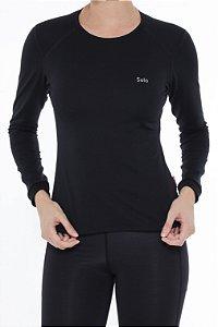 Camiseta Segunda Pele Solo X-Thermo DS Feminina Preta