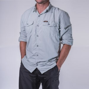 Camisa Masculina Hard Adventure Safari Gelo UV50+