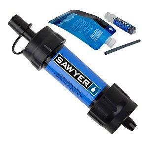 Filtro Portátil de Água Purificador Sawyer Azul