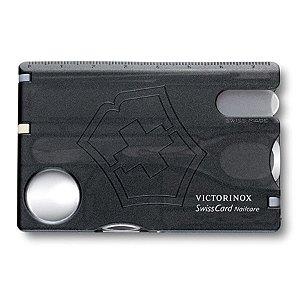 Cartão Victorinox SwissCard Nailcare Preto Translúcido 0.7240.T3