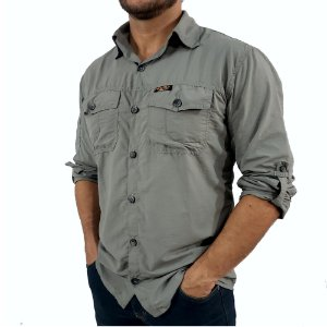 Camisa Masculina Hard Adventure Safari Cimento UV50+