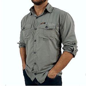 Camisa Masculina Hard Adventure Safari Cimento UV50+