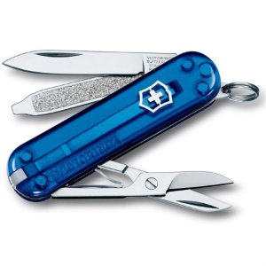 Canivete Victorinox Classic SD Azul Translúcido em Blister 0.6223.T2B1