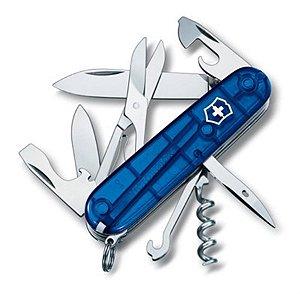 Canivete Victorinox Climber Azul Translúcido em blister 1.3703.T2B1