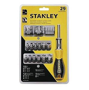 Jogo de Chave Catracada Stanley Multi Bits 29 Peças