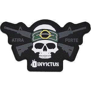 Patch Emborrachado Invictus Brasil Shooter