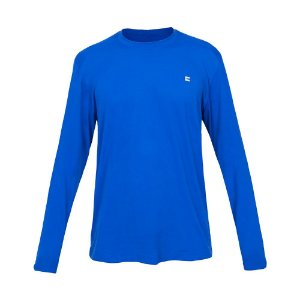 Camiseta Masculina Curtlo Active Fresh Manga Longa Azul Royal