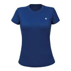 Camiseta Feminina Curtlo Active Fresh Azul Marinho