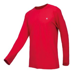 Camisa Masculina Curtlo Active Fresh Manga Longa Vermelho