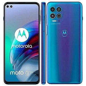 Smartphone Motorola Moto G100 256GB 5G Wi-Fi Tela 6.7'' Dual Chip 12GB RAM Câmera Tripla + Selfie 16MP + 8MP - Luminous Ocean
