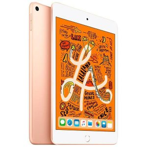 "Apple iPad Mini 5 A2133 64GB Wi-Fi Tela Retina de 7.9"" 8MP/7MP OS iOS - Dourado"