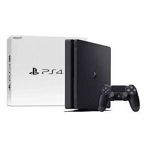Console PlayStation 4 Slim 1tb Preto , Caixa Branca , Mega desconto   Poucas unidades , nOVO