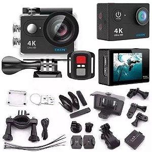 Câmera Eken H9r Original 4k Wifi Cor Preta - Esporta Câmera de ação - câmera motos - Prova d'agua