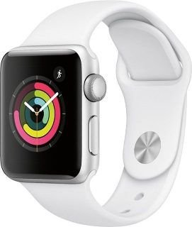 Smartwatch Apple watch Serie 3 42mm Com GPS prata com pulseira esportiva Branca