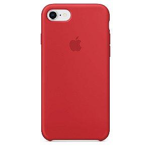 Capa Capinha Case de Silicone para Iphone 7 / Iphone 8 - Vermelho